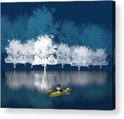 Kayaking Acrylic Prints