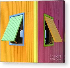 Cabin Window Acrylic Prints