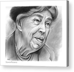 First Lady Drawings Acrylic Prints