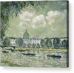 Boat Along The River Acrylic Prints