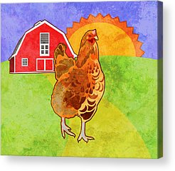 Rooster Acrylic Prints