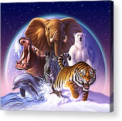 Tigers Acrylic Prints