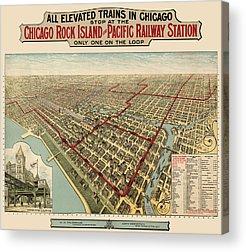 Vintage Railroad Acrylic Prints
