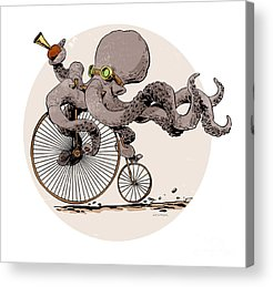 Bicycling Acrylic Prints