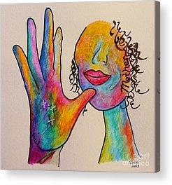 Hand Signs Acrylic Prints