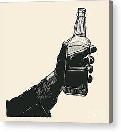 Alcoholism Acrylic Prints