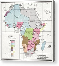 Equatorial Africa Acrylic Prints