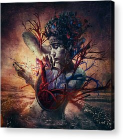 Sadness Mixed Media Acrylic Prints