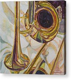 Trombone Acrylic Prints