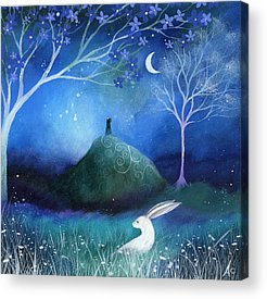 Mystical Landscape Paintings Acrylic Prints