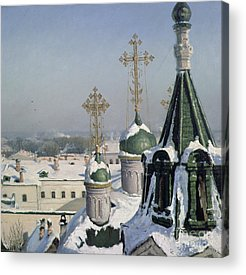Onion Domes Paintings Acrylic Prints