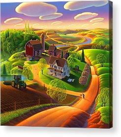 Spring Scenes Paintings Acrylic Prints