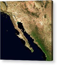 Baja California Peninsula Acrylic Prints