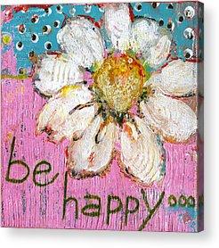 Pink Daisy Acrylic Prints