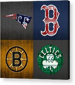 Celtics Mixed Media Acrylic Prints