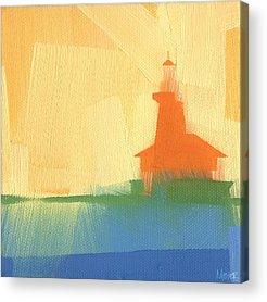 Harbor Paintings Acrylic Prints