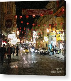 China Town Paintings Acrylic Prints