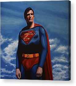Man Of Steel Acrylic Prints