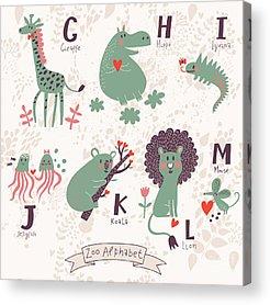Alphabet Acrylic Prints