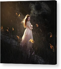 Red Haired Girl Acrylic Prints