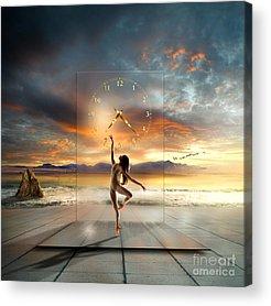 Dancers Mixed Media Acrylic Prints