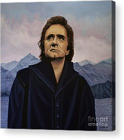Johnny Cash Acrylic Prints