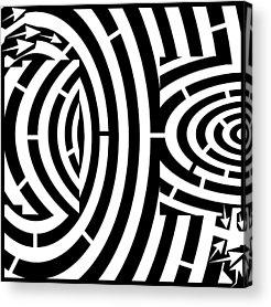 Alphabet Mazes Acrylic Prints