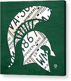 Michigan State Acrylic Prints