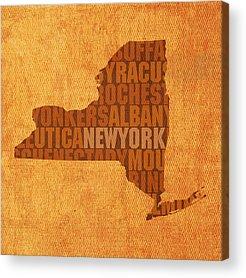 New York City Mixed Media Acrylic Prints