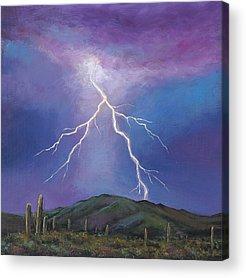 Phoenix Lightning Acrylic Prints