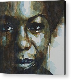 American Singer Paintings Acrylic Prints