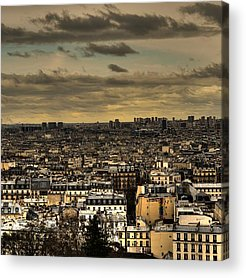 Paris Skyline Acrylic Prints