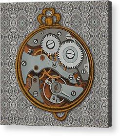 Clock Acrylic Prints