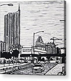 Linoluem Drawings Acrylic Prints