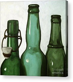 Glass Bottle Paintings Acrylic Prints