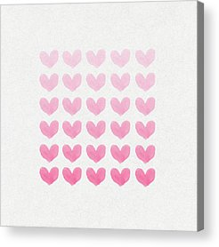 Abstract Hearts Digital Art Acrylic Prints