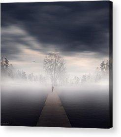 Pathway Digital Art Acrylic Prints