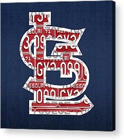 St. Louis Mixed Media Acrylic Prints