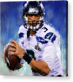 Rugby Paintings Acrylic Prints