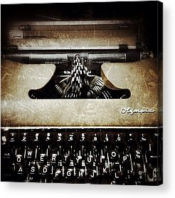 Typewriter Acrylic Prints