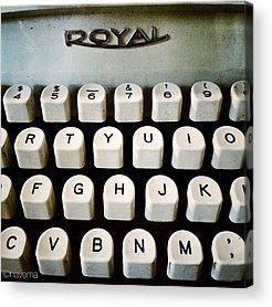Typewriter Acrylic Prints