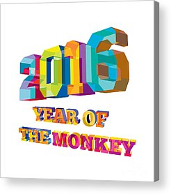 Year Of The Monkey Acrylic Prints