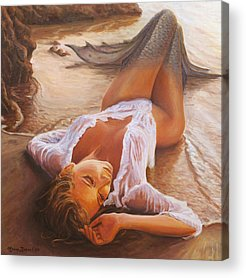 Sensual Paintings Acrylic Prints
