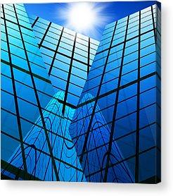Blue Window Photographs Acrylic Prints