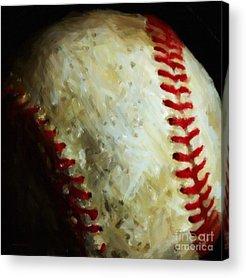 Red Sox Digital Art Acrylic Prints