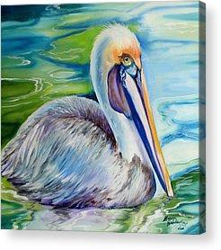 Wetlands Paintings Acrylic Prints