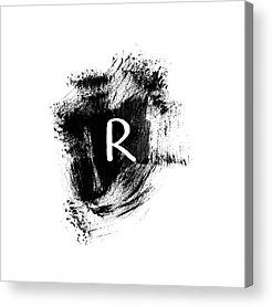 White Letters Acrylic Prints