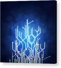 Circuit Board Photographs Acrylic Prints