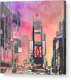 Sightseeing Digital Art Acrylic Prints