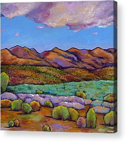Rocky Mountains Paintings Acrylic Prints